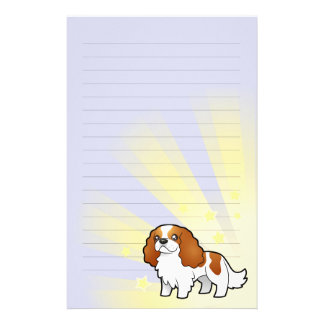 Little Star Cavalier King Charles Spaniel Stationery Paper