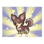 Little Star Chihuahua (long coat) Post Card