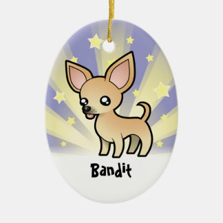 Little Star Chihuahua (smooth coat) Christmas Ornament