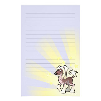 Little Star Chinese Crested (hairless) Stationery Design