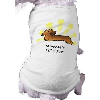Little Star Dachshund (longhair) Sleeveless Dog Shirt