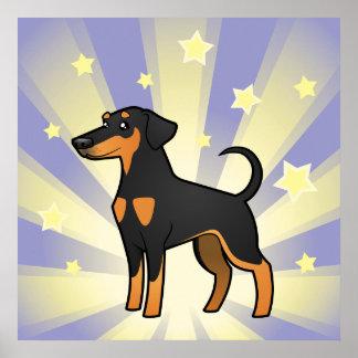 Little Star Doberman Pinscher (floppy ears) Poster