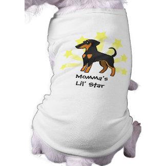Little Star Doberman Pinscher (floppy ears) Sleeveless Dog Shirt