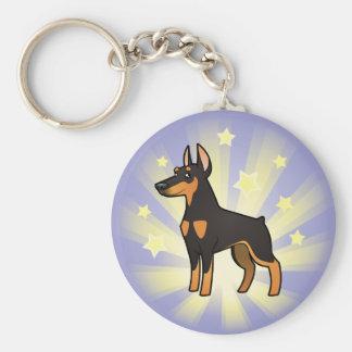 Little Star Doberman Pinscher (pointy ears) Key Ring