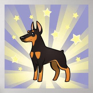 Little Star Doberman Pinscher (pointy ears) Poster