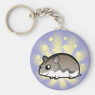 Little Star Dwarf Hamster Basic Round Button Key Ring