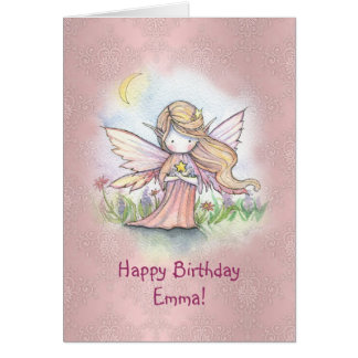 Little Star Fairy Girls Birthday Card