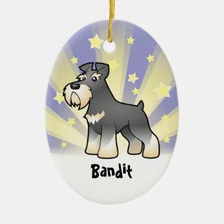 Little Star Giant/Standard/Miniature Schnauzer Christmas Ornament
