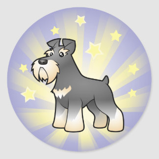 Little Star Giant/Standard/Miniature Schnauzer Classic Round Sticker