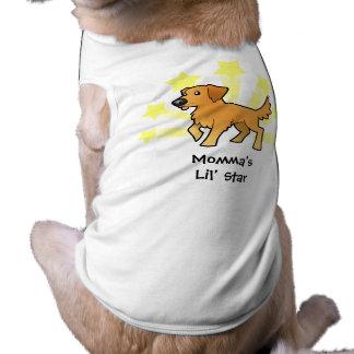 Little Star Golden Retriever Sleeveless Dog Shirt