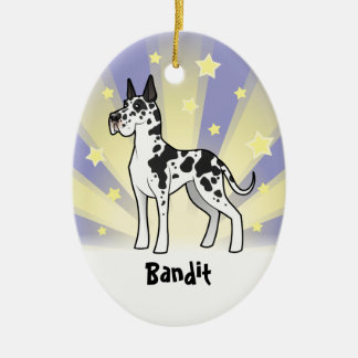 Little Star Great Dane Christmas Ornament