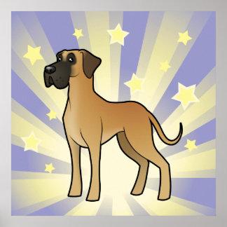 Little Star Great Dane Poster