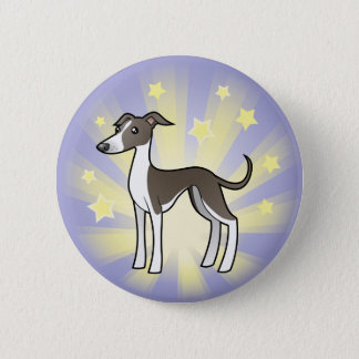 Little Star Greyhound/Whippet/Italian Greyhound 6 Cm Round Badge