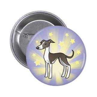 Little Star Greyhound/Whippet/Italian Greyhound 6 Cm Round Badge