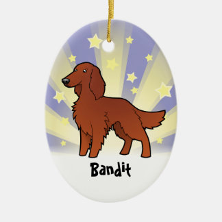 Little Star Irish / English / Gordon / R&W Setter Christmas Ornament