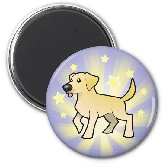 Little Star Labrador Retriever 6 Cm Round Magnet