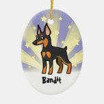 Little Star Miniature Pinscher /Manchester Terrier Ceramic Oval Decoration