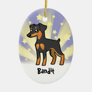 Little Star Miniature Pinscher /Manchester Terrier Christmas Ornament