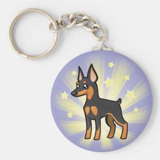 Little Star Miniature Pinscher /Manchester Terrier Key Ring