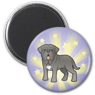 Little Star Neapolitan Mastiff 6 Cm Round Magnet