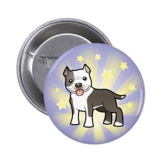 Little Star Pitbull/American Staffordshire Terrier 6 Cm Round Badge