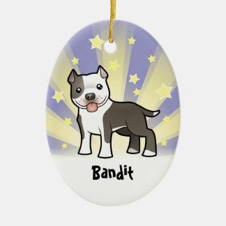 Little Star Pitbull/American Staffordshire Terrier Christmas Ornament
