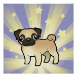 Little Star Pug Poster