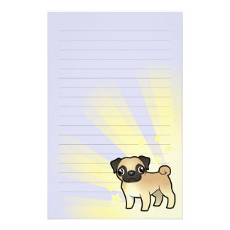 Little Star Pug Stationery