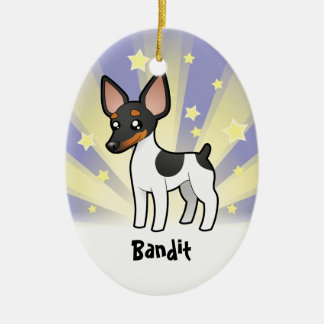 Little Star Rat Terrier / Toy Fox Terrier Ceramic Oval Decoration