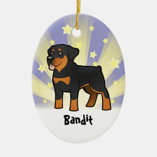 Little Star Rottweiler (add your pets name) Christmas Ornament