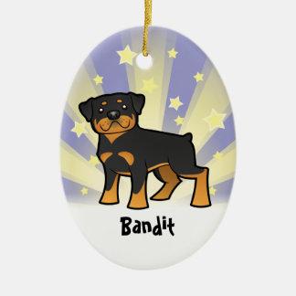 Little Star Rottweiler Christmas Ornament