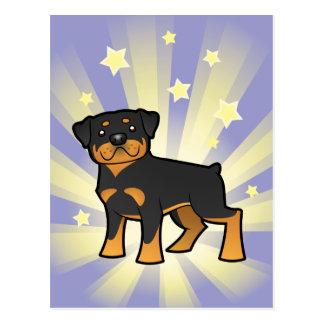 Little Star Rottweiler Postcard
