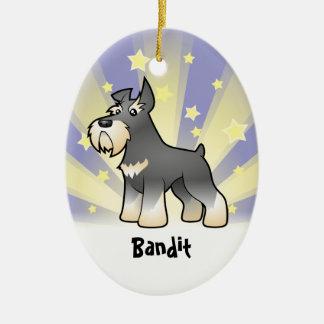 Little Star Schnauzer Christmas Ornament