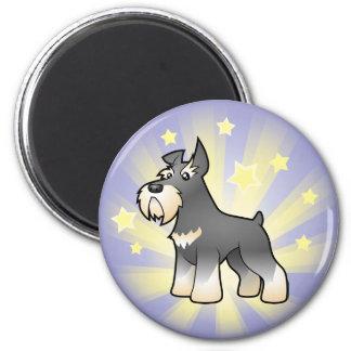 Little Star Schnauzer 6 Cm Round Magnet