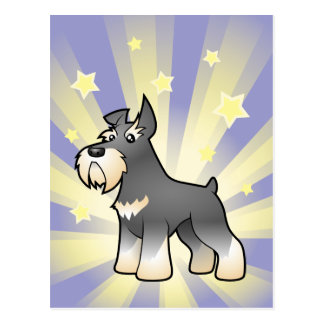 Little Star Schnauzer Postcard