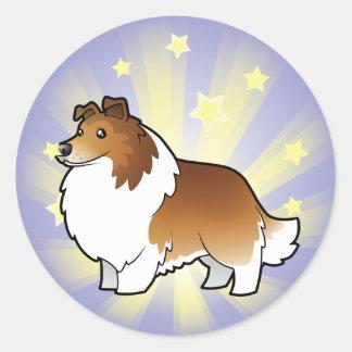 Little Star Shetland Sheepdog / Collie Classic Round Sticker