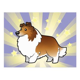 Little Star Shetland Sheepdog / Collie Postcard