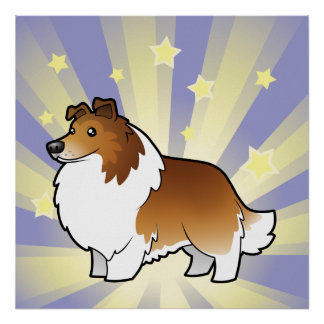 Little Star Shetland Sheepdog / Collie Poster