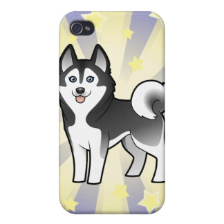 Little Star Siberian Husky / Alaskan Malamute Case For The iPhone 4