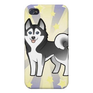 Little Star Siberian Husky / Alaskan Malamute Cover For iPhone 4
