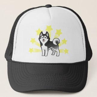 Little Star Siberian Husky Trucker Hat