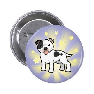 Little Star Staffordshire Bull Terrier 6 Cm Round Badge