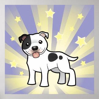 Little Star Staffordshire Bull Terrier Poster