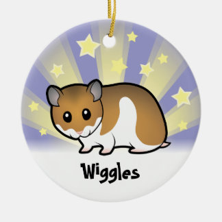 Little Star Syrian Hamster Christmas Ornament