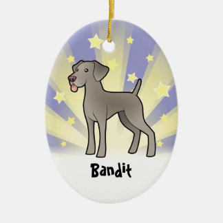 Little Star Weimaraner (add your pets name) Christmas Ornament