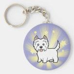 Little Star West Highland White Terrier Keychains