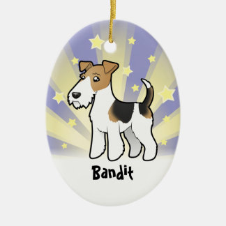 Little Star Wire Fox Terrier Christmas Ornament