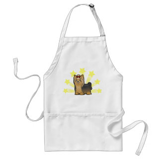 Little Star Yorkshire Terrier (long hair with bow) Standard Apron