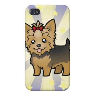 Little Star Yorkshire Terrier (short hair & bow) iPhone 4/4S Cases
