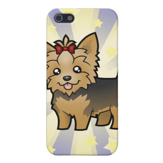 Little Star Yorkshire Terrier (short hair & bow) iPhone 5/5S Covers